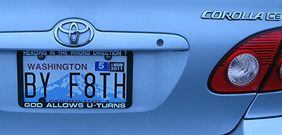 By faith | License Plate Wisdom